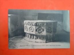 Cpa  église De  LIMAY - 78  - Fonts  Baptismaux ( XIII° Siècle) - Monument Historique - Yvelines  - - Limay