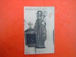 Cpa  église De  LIMAY - 78  - Statue En Pierre De La Ste Vierge ......- Yvelines  - - Limay