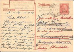 WGA213/ Mi.Nr. P 171 Nach Loanda (Angola) 1929 Und  Wieder Zurück - Deutschland