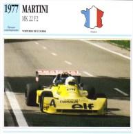 Fiche  -  Formula 2 Monoposto Cars  -  Martini Mk 22  -  1977  -  Pilotée Didier Pironi  - Carte De Collection - Grand Prix / F1