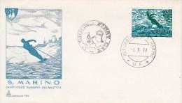 WASSERSKI-WATER SKIING-SKI NAUTIQUE, San Marino, 1979, FDC / Special Cancellation !! - Water-skiing