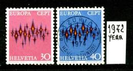 -EUROPA - CEPT- SVIZZERA -HELVETIA - Year 1972- Viaggiata - Traveled - Voyagè - Gereist. - Europa-CEPT