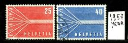 -EUROPA - CEPT- SVIZZERA - HELVETIA - Year 1957 - Viaggiata - Traveled - Voyagè - Gereist. - Europa-CEPT