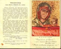 Madonna Di San Luca 1951, Anno Santo  Santino Pieghevole, Papa Pio XII E Cardinale (interno) - Religione & Esoterismo