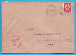 Lettre Avec Timbre Et Cachet IIIe Reich - Allemagne
