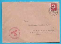 Lettre Avec Timbre Et Cachet IIIe Reich - Germany