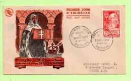1°Jour, Yvert 926 SAINTE CROIX, POITIERS - 1950-1959