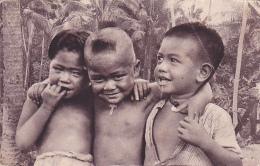 22361 Iles Samoa Trois Petits Chretiens,  D'oceanie Pas Malheureux -5 Ed Missions, Revue Paris ! état !