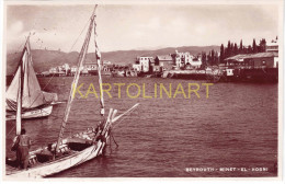 Liban - Beyrouth, MINET EL HOSNI  n � 11 (Editeur Photo Sport, rue Weygand � Beyrouth) , barques, p�cheurs, comme neuf