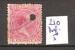 Espagne 103 Oblitéré Perf :O  Côte 5 € - 1889-1931 Regno: Alfonso XIII