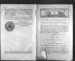 Bulletin Des Lois Du 2 Germinal, An XI ( 23 Mars 1803) – 211 Ans D'âge ! - Loi Sur La Paternité Et La Filiation - Loi Re - Décrets & Lois