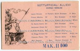 CARTOLINA MAK II 100 SOTTUFFICIALI ALLIEVI CORSO 1906 1909 REGGIMENTI - Régiments