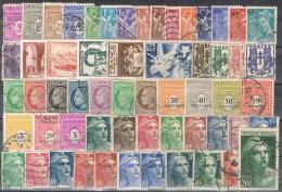 R 313. Ficha Con 452 Sellos, Restos De Coleccion De Francia 1944- 1960 */º - Francia