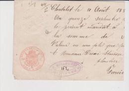 Emission 1883.N°41 Charleroi 11 Sept 1885 S/mandat De 500fr.TB Et Cote COB:300 Euros! - 1883 Leopold II.