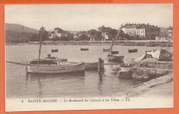 MOL021, Sainte-Maxime, Boulevard Du Littoral Et Les Villas, 4, Circulée 1926 - Sainte-Maxime