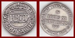 Jeton Louis XI Denier Parisis 1467 Collection BP Trésor Rois De France Etat TTB Publicité Monnaie Factice - Royal / Of Nobility