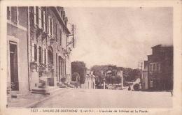 22377 MAURE DE BRETAGNE N1827 L ARRIVEE DE LOHEAC ET LA POSTE -donias Rennes