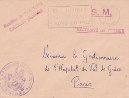 Cachet BATAILLON DE L'AIR 1/708 CAZAUX GIRONDE SUR LETTRE FM OBL TESTE DE BUCH > PARIS - Militärstempel Ab 1900 (ausser Kriegszeiten)