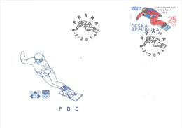 FDC 797 Czech Republic Winter Olympic Games Sotchi 2014 - Hiver 2014: Sotchi