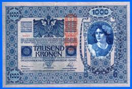 1 BILLET MONNAIE PAPIER EUROPE BANQUE AUTRICHE OESTERREICHISCH UNGARICHE BANK 1000 COURONNE TAUSEND KRONEN 04752 - Autriche