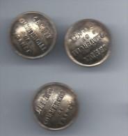 3   Boutons /Banque / Crédit Commercial De France /  Vers 1920    BOUT38 - Boutons