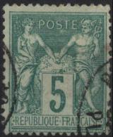 FRANCE  75 (o) Sage Type II (7) - 1876-1898 Sage (Type II)