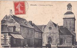 22383 Iffendic.exterieur église - Coll Beauge, Iff. Mr Le Curé Prend La Pause. Boucher Martin (gauche) ! Rousseurs - France