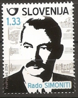 SLOVENIA 2014,RADO SIMONITI,MUSIC,COMPOSER,MNH - Musique
