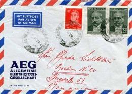 ARGENTINIEN 1953?, 3 Fach Frankierung Auf LP-Brief Gel.v.Buenes Aires Nach Berlin - Argentinien