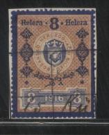 BOSNIA & HERCEGOVINA (AUSTRO-HUNGARIAN EMPIRE) 1916 REVENUE 8H BLUE & BROWN BAREFOOT 132 - Officials
