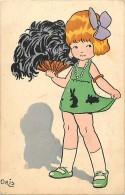 Themes Div- Ref G484- Illustrateur Oris - Enfant Et Eventail -theme Eventails    -carte Bon Etat - - Children