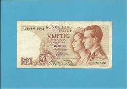 BELGIUM - 50 FRANCS - 16.05.1966 - P 139 - Sign. 21 . Letter O - BELGIE BELGIQUE - [ 6] Treasury