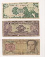 VENEZUELA   Lot 2 Billets,  BOLIVIE 1 Billet - Billets