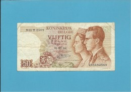 Belgium - 50 FRANCS - 16.05.1966 - P 139 - Sign. 20 - Letter T - BELGIE BELGIQUE - 50 Franchi