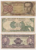 VENEZUELA   Lot 2 Billets,  BOLIVIE 1 Billet - Autres - Amérique