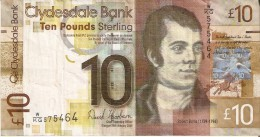 BILLETE DE ESCOCIA DE 10 POUND DEL AÑO 2009  (BANKNOTE) - [ 3] Scotland