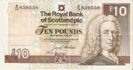 BILLETE DE ESCOCIA DE 10 POUND DEL AÑO 1993  (BANKNOTE) - [ 3] Scotland