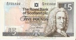 BILLETE DE ESCOCIA DE 5 POUND DEL AÑO 1994  (BANKNOTE) - [ 3] Escocia