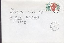 Norway Deluxe MAJORSTUA (Oslo) 1987 Cover Brief To BALLERUP Denmark H. Wildenvey, Lyriker - Briefe U. Dokumente