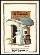 Champignons Mushrooms Cartoon Char Coal Pilze Holzkohle R. Sabatier Unused °AK0003 - Botanik