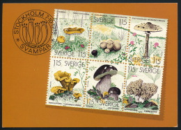 Sweden Schweden Sverige Champignons Mushrooms Pilze °AK0042 - Briefmarken (Abbildungen)