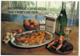 Recette Recipe Food Crab Mussels Wine Mushrooms Pilze °AK0077 - Küchenrezepte