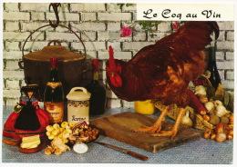 Recette Recipe Food Vegetable Wine Chicken Mushrooms Pilze °AK0090 - Küchenrezepte