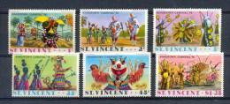 ST VINCENT * SERIE 6v YEAR 1976 * CARNIVAL CARNAVAL FEAST * MNH - St.Vincent (1979-...)