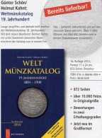 Alte Münzen 19.Jahrhundert Weltmünzkatalog A-Z Schön 2014 Neu 50€ Battenberg Verlag Europa Amerika Afrika Asien Ozeanien - Tematica