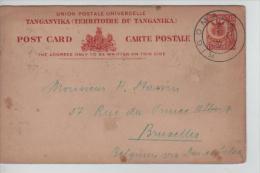 Tanganika PSC Hig&G 1 C.Kigoma 17/3/1923 To Brussels PR439 - Kenya, Uganda & Tanganyika