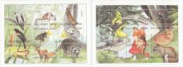MOZAMBIQUE 2002 - Fauna & Flora, Mushrooms 2 M/S - Mi 2353-70, Sc 1549-50 - Pilze