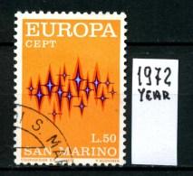 -EUROPA - CEPT- S.MARINO - Year 1972 - Viaggiato - Traveled - Voyagè - Gereist. - Europa-CEPT