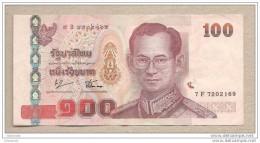 Thailandia - Banconota Circolata Da 100 Baht - Tailandia