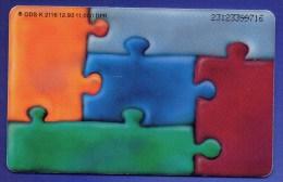 TK K 2116/1993 Werbung Hypo-Bank O 8€ Auflage 11T. Kunstkarte Ch.Hollmann Farbiger Puzzle-Auschnitt Tele-card Of Germany - Deutschland